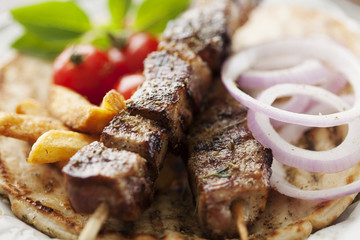 meat skewer kebab