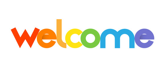 """WELCOME"" icon (card smile congratulations greetings)"