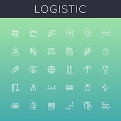 Vector Logistic Line Icons