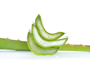 aloe vera fresh leaf. isolated