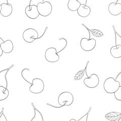 Delightful garden - Seamless pattern of cherries