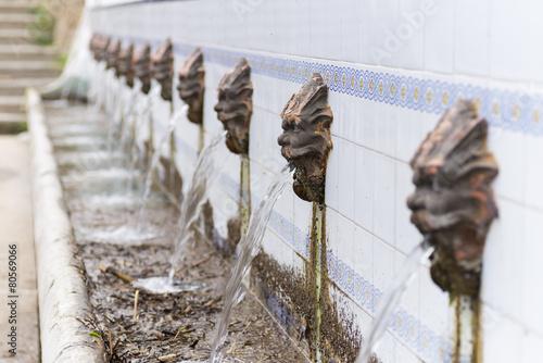 Foto op Plexiglas Fontaine Fuente de hierro (Navajas, Castellon - España).