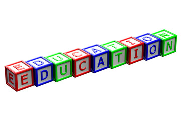 Blocks with word education