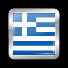Flag of Greece. Metal Icons