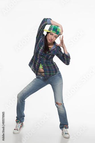 Aluminium Dance School Portrait of street dancer