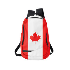 Canada flag backpack isolated on white