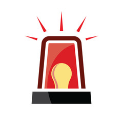 Red siren vector icon
