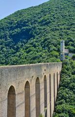 Ponte delle Due Torri. Spoleto. Umbria. Italy.