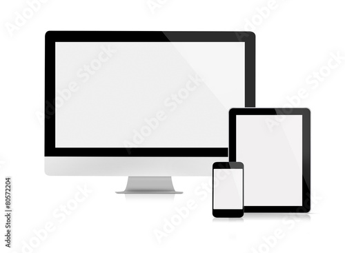 Computer monitor, tablet and mobile phone - 80572204