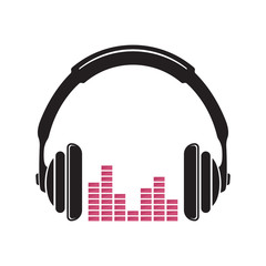 Music headphones vector icon