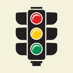 Traffic light vector sign