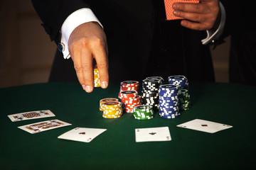 big bet in poker game