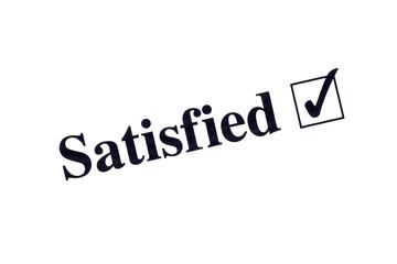 Satisfied word