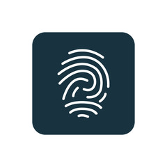 fingerprint icon Rounded squares button