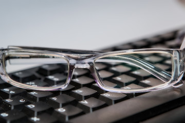 eyeglasses with keyboard