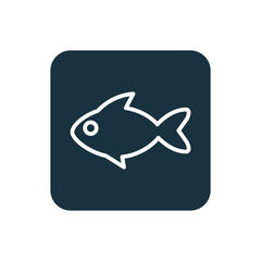 fish icon Rounded squares button