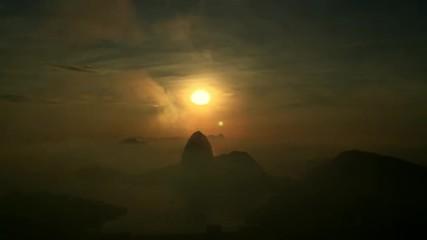 Rio de Janeiro Brazil Sunrise Time Lapse
