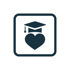 love education icon Rounded squares button