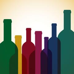 Bright wine list menu cover in vector format.
