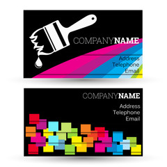 Business card for businesses painting