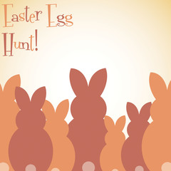Overlay Easter bunny card in vector format.