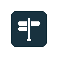 signpost icon Rounded squares button