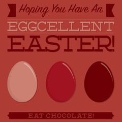 Retro style Easter typographic card in vector format.