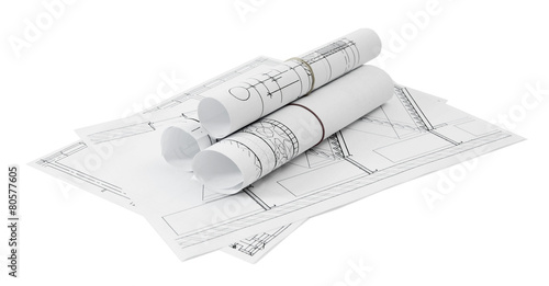 Repair work. Drawings for building on white a background. - 80577605