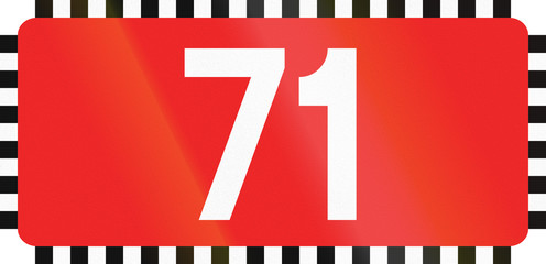 Polish Direction To National Road 71