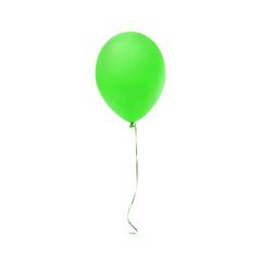 Green balloon icon isolated on white background.