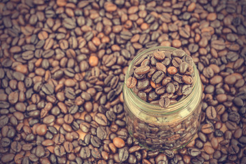 coffee beans background - vintage effect style pictures