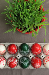 Hungarian hand painted Easter eggs