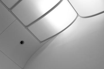 Ceiling with air conditioning / ventilation duct fitting