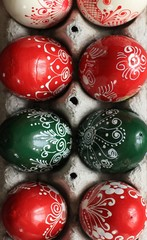 Hand painted Hungarian Easter eggs