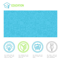Vector educational design template