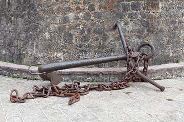 old anchor with chain