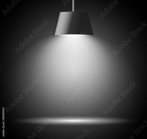 Canvas Licht, schaduw Abstract background with spot light