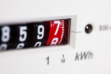 Electric meter dial numbers