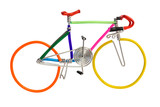 bicycle model toy wire isolated on white background