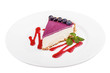 Cheesecake with blueberries - 80583251