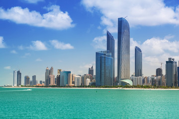 Cityscape of Abu Dhabi, capital of United Arab Emirates
