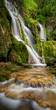 Beautiful waterfall among cliffs in spring time - 80583868