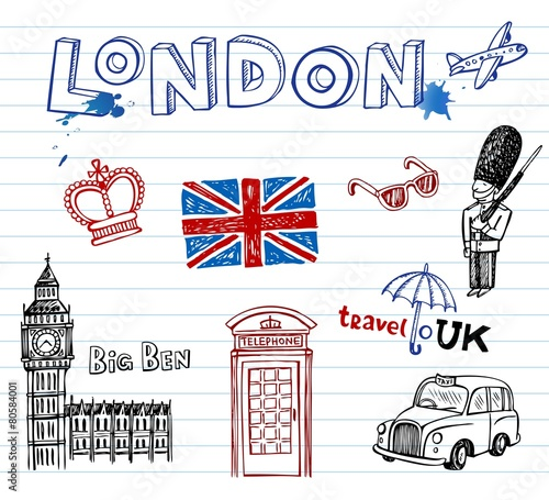 London Doodles - 80584001