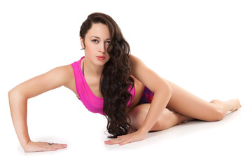 Portrait of a beautiful sporty woman.
