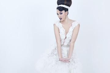 White style woman