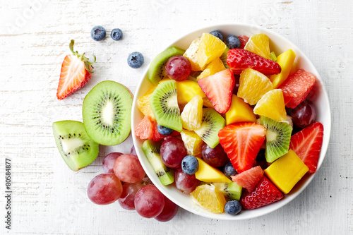 Foto op Canvas Vruchten Fresh fruit salad