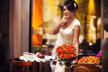 bride, brunette sexy