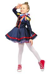 Little girl in blue costume