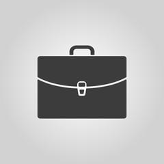 The briefcase icon. Portfolio symbol. Flat