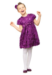 Little girl in purple dress